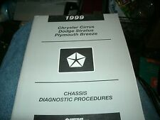 1999 CHRYSLER CIRRUS PLYMOUTH BREEZE DODGE STRATUS CHASSIS SHOP SERVICE MANUAL