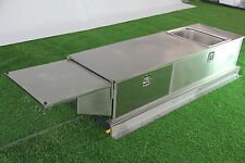 STAINLESS STEEL CAMPER TRAILER SLIDE OUT KITCHEN. 2 DRAWERS, SINK, BENCH