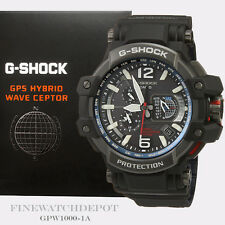 Authentic Casio G-Shock Mens GPS Automatic Solar Hybrid Watch GPW1000-1A GPW1000