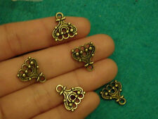 20 pendants charms bronze antique links jewellery making finding earring UK -06