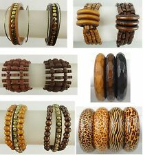 A-01 Wholesale Jewelry lot  10 PCS  wooden bracelets , bangle