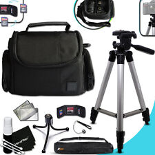 "Xtech Well Padded CASE / BAG + 60"" inch TRIPOD + MORE for SONY H300"