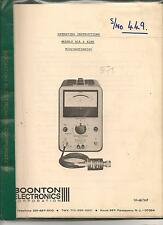 Microwattmeter model 41A+41AR Operating instructions Boonton electronicscorporat