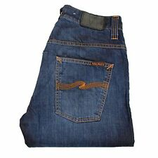 NUDIE Jeans Hank Rey Faded Coated Indigo men Jeans Size 32/32