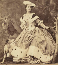 CDV: Famous Victorian Opera Singer ADELINA PATTI by Camille Silvy Photograph Dog