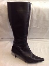 George Black Knee High Leather Boots Size 39