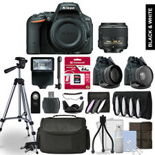 Nikon D5500 Digital SLR Camera 3 Lens Kit + 64GB Multi Accessory Bundle