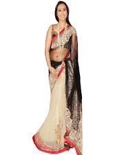 Rani Off-White Net Sari Bollywood Replica Saree