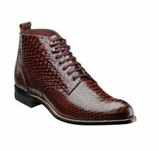 Stacy Adams Men's Madison Lace Up Dress Leather Ankle Boots Brown 00057 Size 9 M