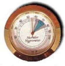 "Analog Hygrometer ~ 1 3/4"" Brass / Glass Face Hygrometer & Humidifier System #6"