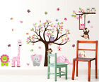 wall stickers elephant owl tree birds giraffe zoo baby vinyl decal decor Nursery