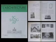 L'ARCHITECTURE 1939 DROBECQ, LE CAIRE, PERRET, MONASTERE HAIFA, VONGY NOVARINA