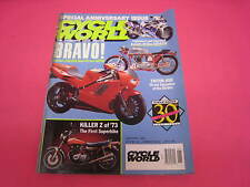 CYCLE WORLD MOTORCYCLE MAGAZINES HONDA NR750, TRITON 650, GSX-R750, (Y89)