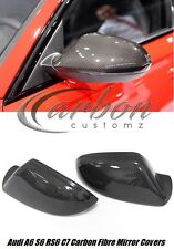 Audi A6 S6 C7 2012 + Real Carbon Fibre Mirror Covers Full Replacement Type *UK*