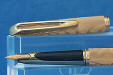 Vintage Waterman CF Moire Gold Plated Fountain Pen