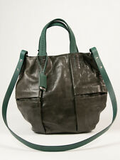 New Jil Sander Dark Green Leather Handbag Rtl $1300