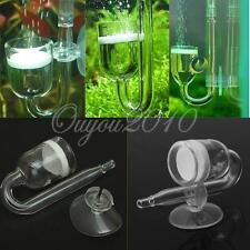Fish Aquarium CO2 Diffuser Glass Reactor + Ceramic Disc Planted Tank System New