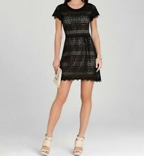 NEW BCBG MAX AZRIA BLACK DARLITA LACE SHEATH DRESS BLACK VFX6Z553/M473 SIZE 4
