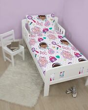 DISNEY DOC MCSTUFFINS HUGS JUNIOR SIZE DUVET SET KIDS QUILT COVER CHILDS COT BED