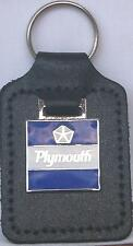 Plymouth Key Ring (square emblem) badge mounted on a leather fob