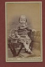 Newcastle upon Tyne. Young Girl basket flowers  CDV photograph dc135