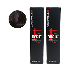 Goldwell Topchic Permanent Hair Color Tubes 4NN - Mid Brown Extra *2 SET*