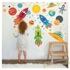 Childrens Space Boy Wall Stickers Decals Nursery Boys Bedroom Kids