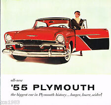 1955 PLYMOUTH Brochure / Catalog: BELVEDERE,PLAZA,SAVOY,
