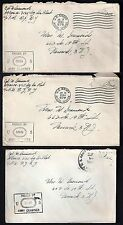 US EGYPT 1944 US ARMY POST OFFICE IN HEIOPOLIS APO 678 3 CENSORED COVERS FROM