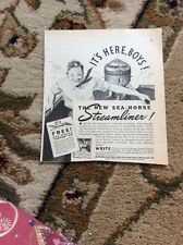 Q1-a-a Ephemera 1940 Advert The Sea Horse Streamliner Outboard Johnson Motors