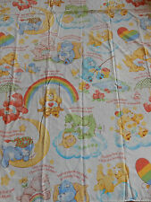 Vintage Sears Care Bear Twin Flat Sheet Fabric