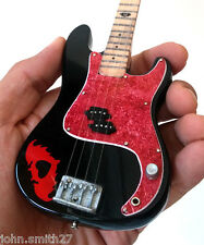Miniature Guitar Fall Out Boy Pete Wents Black FOB Bass Signature
