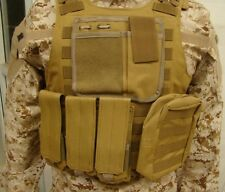 USMC TACTICAL HUNTING MILITARY AIRSOFT MOLLE COMBAT ASSAULT CARRIER VEST MUD