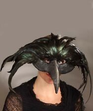 Halloween Raven Feather Death Mask Costume Prop Bethany Lowe