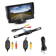"4.3"" LCD Monitor Car Wireless Backup Camera Kit Rear View Parking Night Vision"