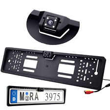 European License Number Plate Frame Holder w/ Car Rear View Night Vision Camera