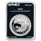 2016 Somalia 1 oz Silver Elephant (MintDirect® Single) - SKU #92499