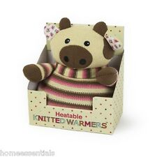 Warmies Intelex Knitted Warmers Heatable Cow Bed Warmer Cozy Animal