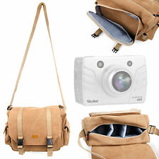 Tan Canvas Bag for Rollei Bullet 3S/4S/5S & Midland XTC-100 / 200 / 300 /400