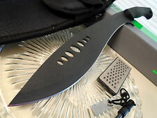 Schrade Survival Kukri Machete Knife Full Tang Sharpener Fire Rod SCHKM1 19 1/2""