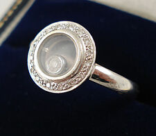 Chopard Style 18ct White Gold Floating Diamond Ring.