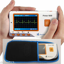 New LCD Portable Handheld ECG Machine EKG Heart Rate Monitor Electrocardiograph