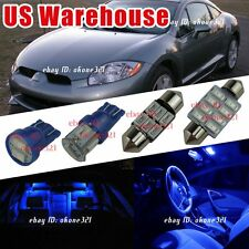 10-pc Pure  Blue LED Lights Interior Package Kit For 98-02 Mitsubishi Eclipse