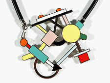ACME Studios Memphis Design Metall Email Collier Morgana ° Entwurf Marco Zanini