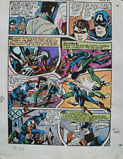 JACK KIRBY Joe Simon CAPTAIN AMERICA #9 pg 40 HAND COLORED ART Theakston 1989