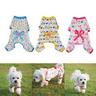 Pet Dog Cotton Clothes Soft Pet Dog Pajamas Cartoon Jumpsuit Apparel New