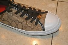 New Coach Empire Khaki Chesnut Fashion Sneakers Shoes Size 8