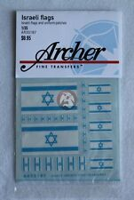 Archer (Various Scales) Israeli IDF Flags and Uniform Shoulder Patches AR35187