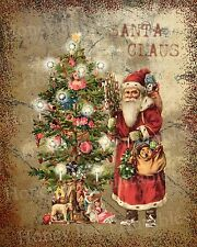 Primitive Santa Claus Old World Belsnickel Christmas Folk Art PRINT ONLY 8x10