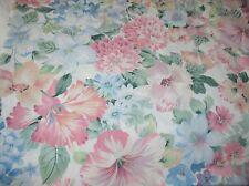Pretty Floral King Flat Sheet Vintage ~ needs hemmed ~